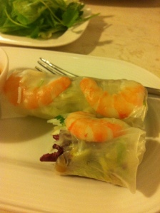 Prawns in a see-through number....