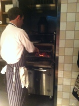 John O'Leary in action at the Josper grill